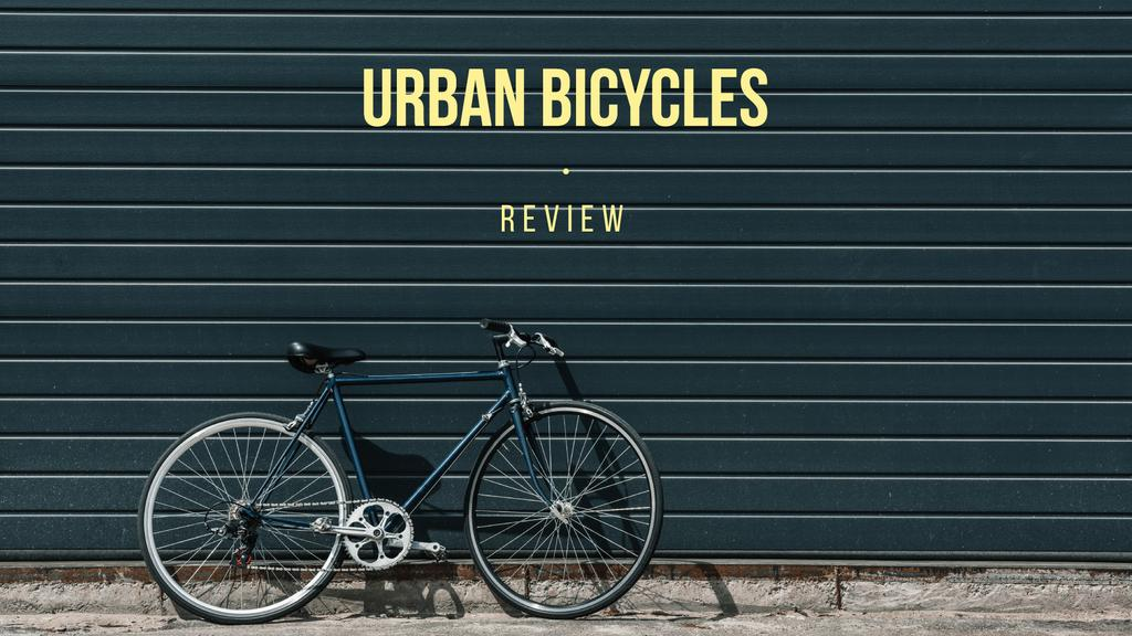 review of urban bicycles banner — Crear un diseño