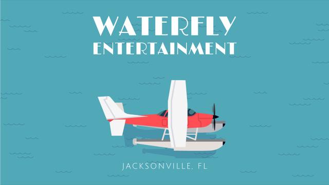 Plantilla de diseño de Seaplane Landing on Water Surface Full HD video