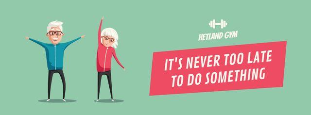 Plantilla de diseño de Old people exercising Facebook Video cover