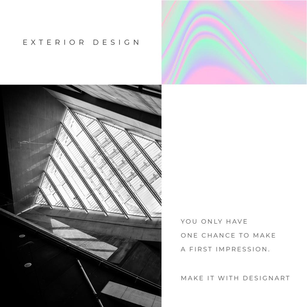 Exterior Design Services futuristic Glass Walls Instagram Design Template