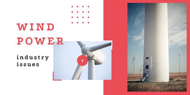 Wind turbines farm Image Modelo de Design