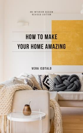 Home Styling Guide Cozy Interior in Light Colors Book Cover Modelo de Design
