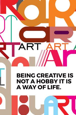 Creativity Quote on colorful Letters Tumblr Modelo de Design