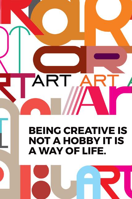 Template di design Creativity Quote on colorful Letters Tumblr