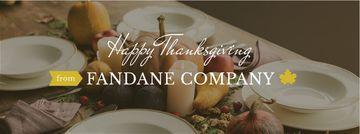 Thanksgiving day corporate greeting card