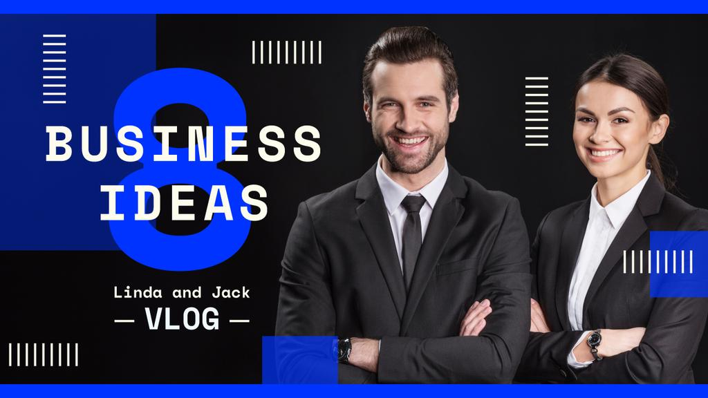 Business Blog Promotion Successful Business Team | Youtube Thumbnail Template — Crear un diseño