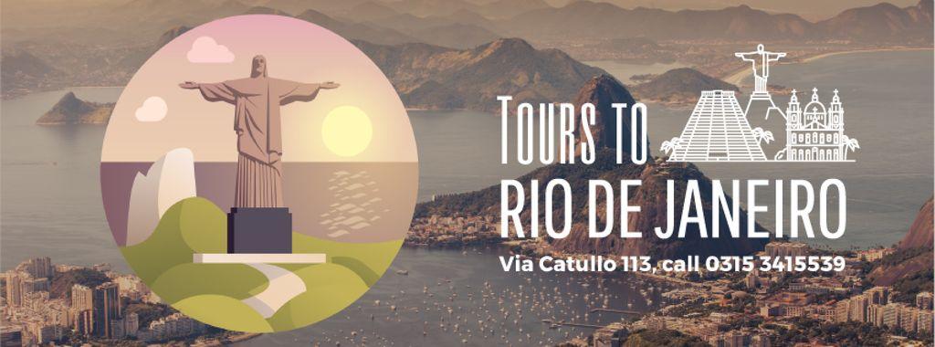 Rio dew Janeiro famous travelling spots — Créer un visuel