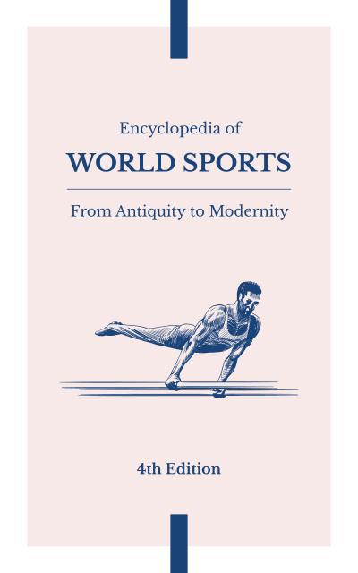 Man Training on Gymnastics Bars Book Cover Tasarım Şablonu