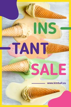 Sale Ad Melting Ice Cream Cones