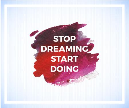 Motivational Quote on Watercolor Blot in Red Facebookデザインテンプレート