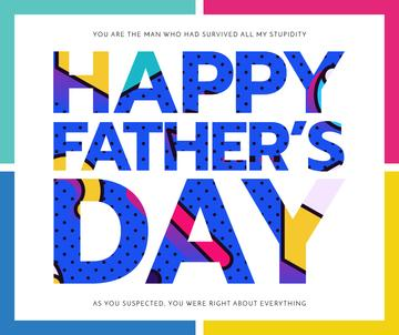 Father's Day colorful Greeting
