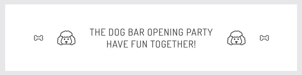 The dog bar opening party — Crea un design