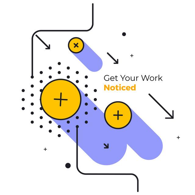 Designvorlage Moving geometric figures für Animated Post