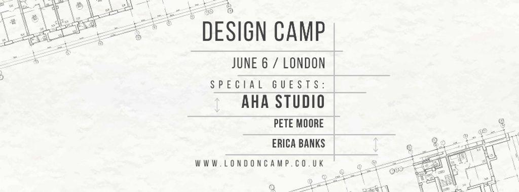 Ontwerpsjabloon van Facebook cover van Design camp in London