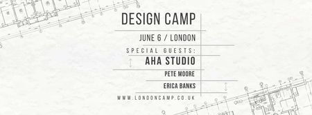 Plantilla de diseño de Design camp in London Facebook cover