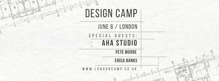 Design camp in London Facebook coverデザインテンプレート