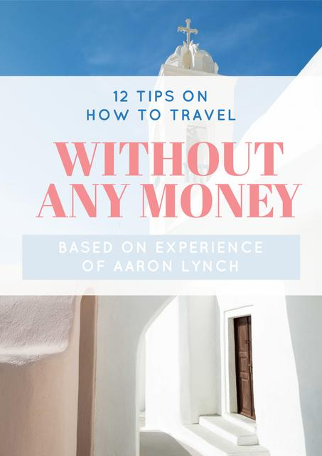 Travelling without money ad Poster Design Template