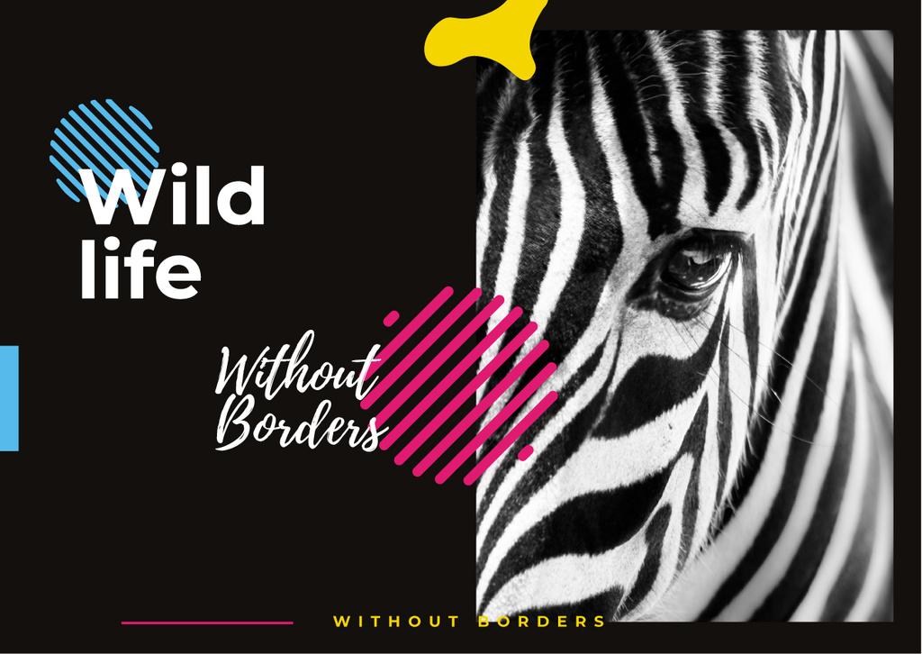 Wild zebra animal — Modelo de projeto