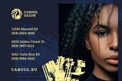 Beauty Salon Ad Woman with Glowing Skin