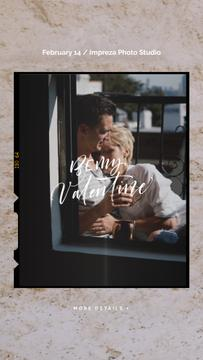 Valentine's Day Greeting Hugging Loving Couple | Vertical Video Template