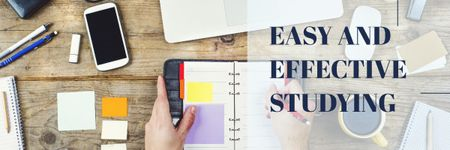 Easy and effective studying Ad Email headerデザインテンプレート