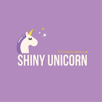 Party Organization Services Magical Unicorn | Logo Template