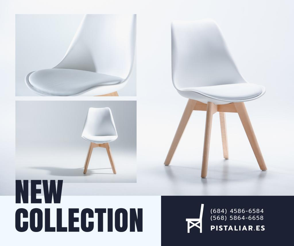 Furniture Shop Ad White Cozy Chair — ein Design erstellen