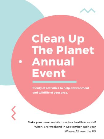 Ecological Event Simple Circles Frame Poster US – шаблон для дизайна