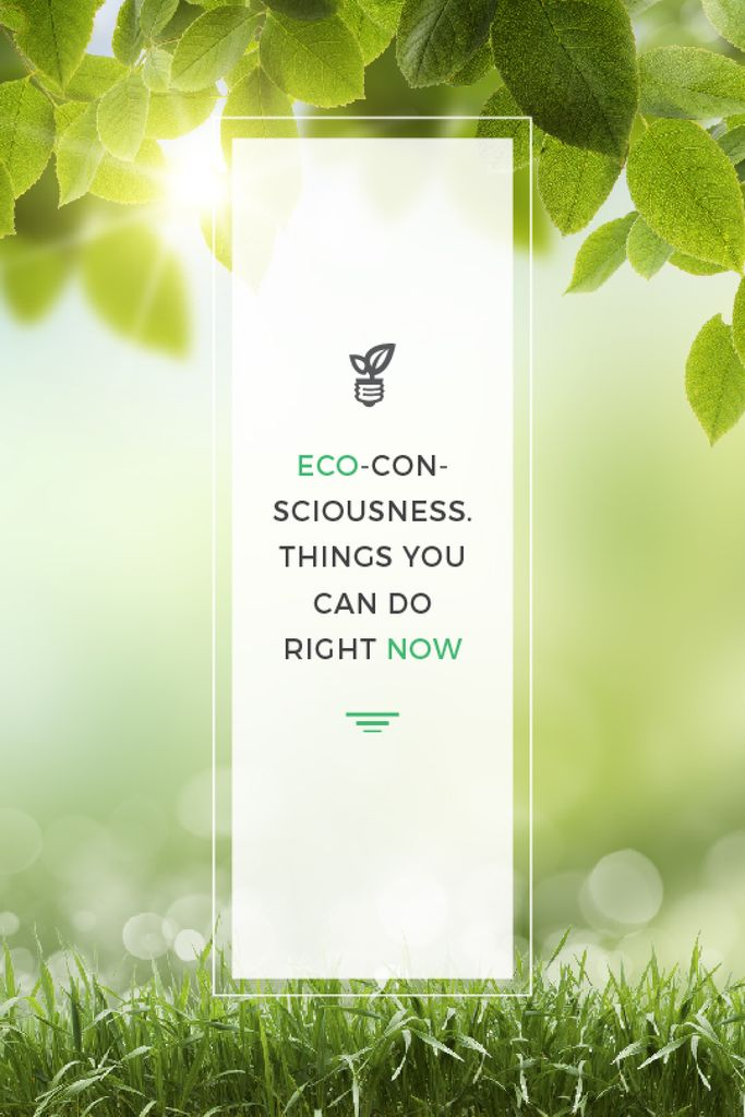 Eco Technologies Concept Light Bulb with Leaves | Tumblr Graphics Template — Создать дизайн