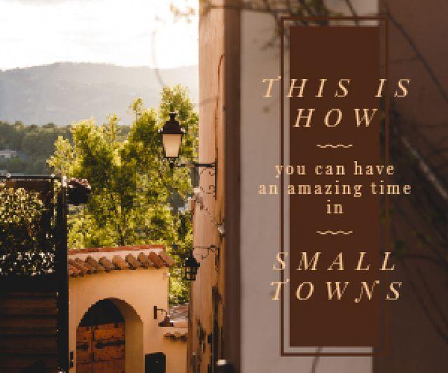 Small Town Guide Narrow Street View Medium Rectangle Modelo de Design