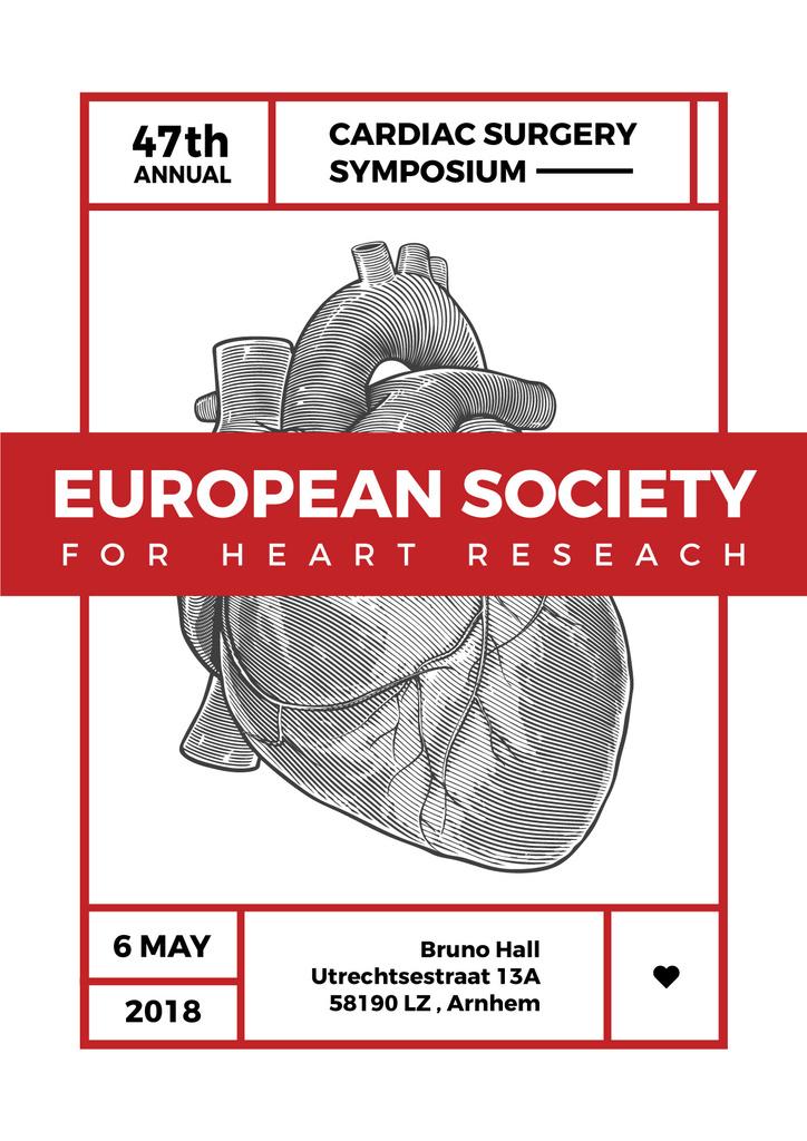 annual cardiac surgery symposium poster — ein Design erstellen