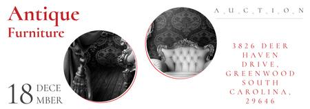 Plantilla de diseño de Antique Furniture Auction with armchair Tumblr