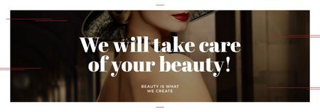 Szablon projektu Beauty Services Ad with Fashionable Woman Tumblr