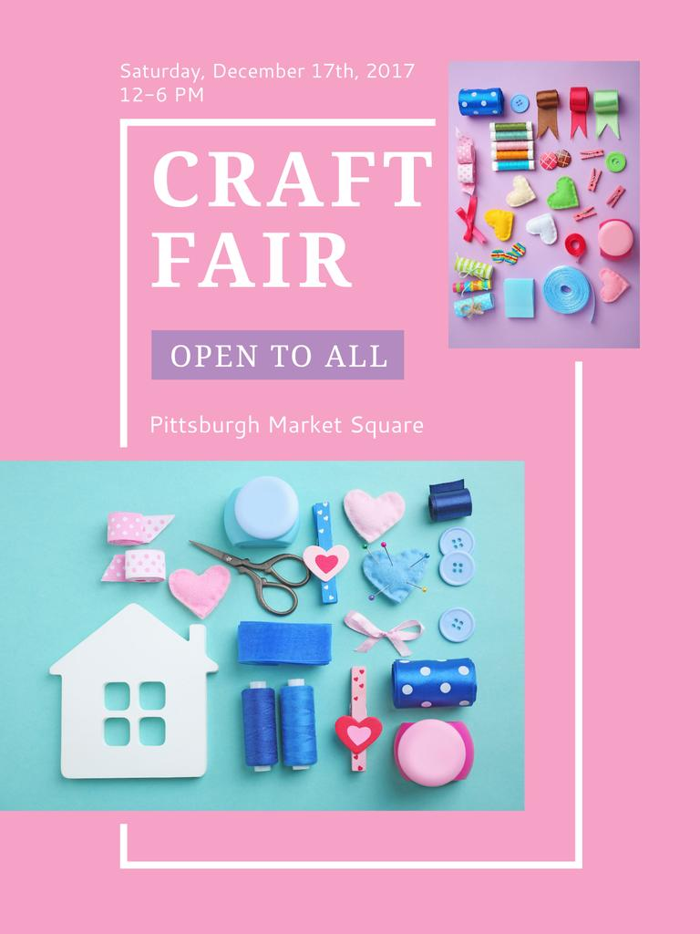 Craft Fair with needlework tools — Створити дизайн