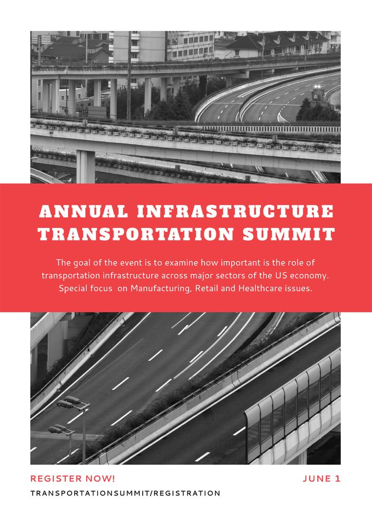 Annual infrastructure transportation summit Poster Design Template