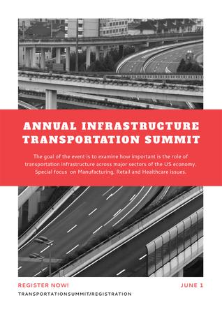 Annual infrastructure transportation summit Posterデザインテンプレート