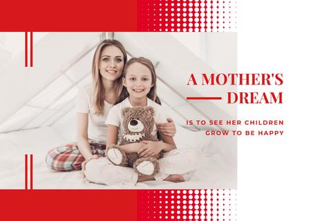 Template di design Happy mother with her daughter Postcard