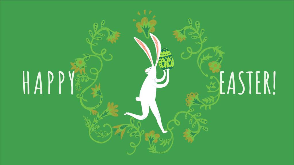 Happy Easter card with White Rabbit — Maak een ontwerp