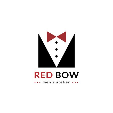 Plantilla de diseño de Fashion Atelier with Male Suit with Bow-Tie Animated Logo