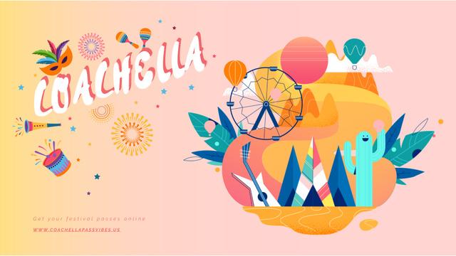 Coachella festival attributes Full HD video Design Template