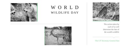Plantilla de diseño de World wildlife day Annoucement Facebook cover