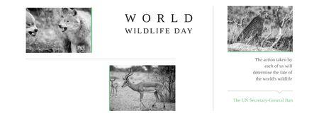 World wildlife day Annoucement Facebook cover Modelo de Design