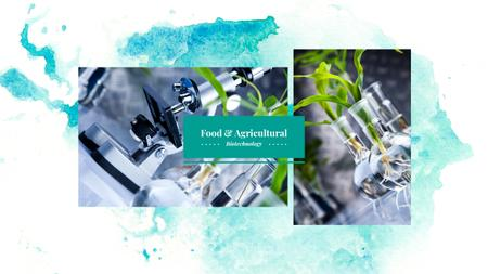 Designvorlage Food and Agricultural Biotechnology für Youtube
