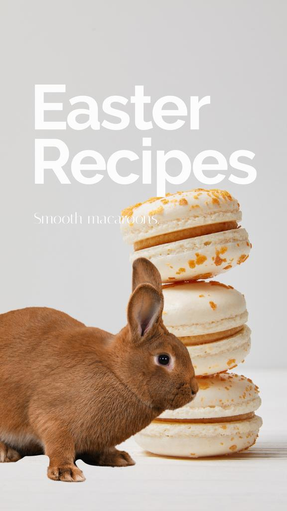 Easter Recipes with cookies and Bunny — Crear un diseño