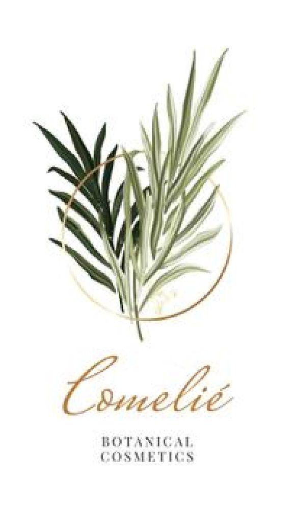 Botanical Cosmetics promotion — ein Design erstellen