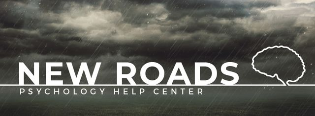 Plantilla de diseño de Rain from dark stormy clouds and lightning Facebook Video cover