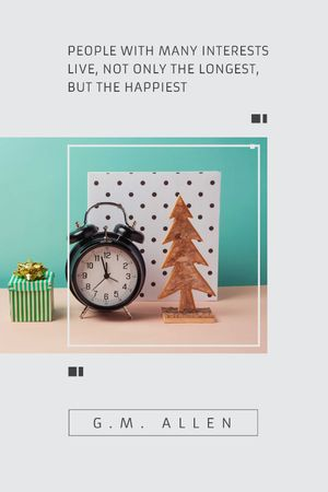 Template di design Inspirational Quote about Interests with alarm clock Tumblr