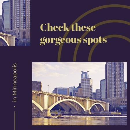 View of city buildings in Minneapolis Instagram ADデザインテンプレート