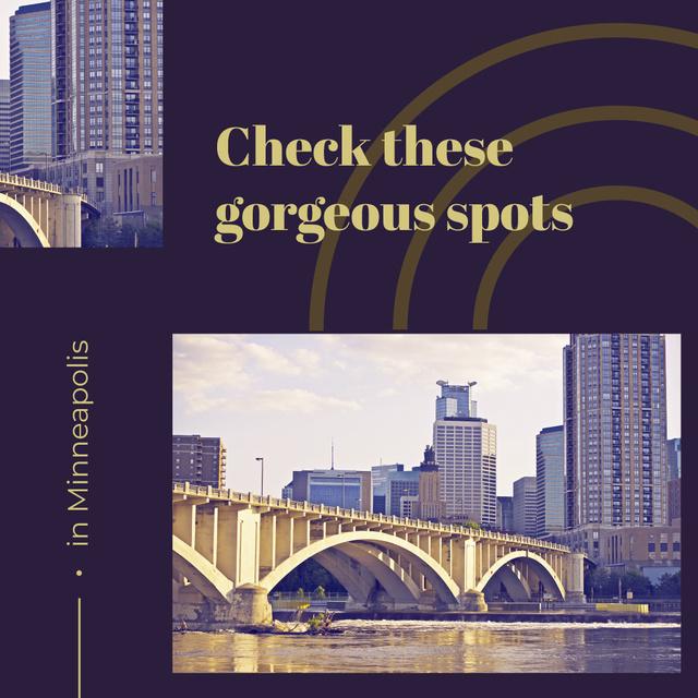 Szablon projektu View of city buildings in Minneapolis Instagram AD