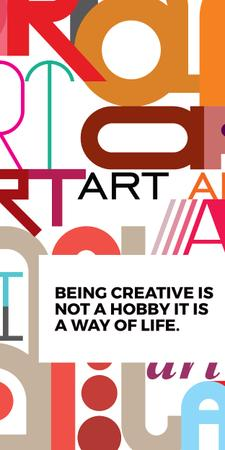 Plantilla de diseño de Creativity Quote on colorful Letters Graphic